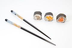 Pedazos del sushi Fotografía de archivo libre de regalías