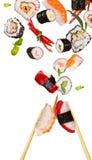 Pedazos del sushi Fotografía de archivo