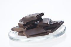 Pedazos detallados de chocolate Imagen de archivo libre de regalías