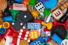 Pedazos diversos del juego imagen de archivo libre de regalías