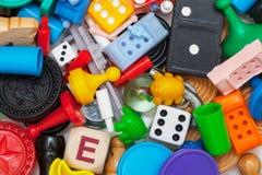 Pedazos diversos del juego fotografía de archivo libre de regalías