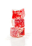Pedazos dulces de placer turco Imágenes de archivo libres de regalías