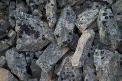 Pedazos grises de roca Imagen de archivo