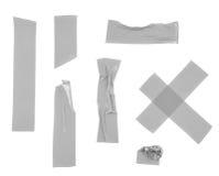 Pedazos múltiples de cinta aislante fotos de archivo