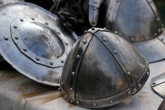Pedazos medievales de la armadura fotografía de archivo libre de regalías