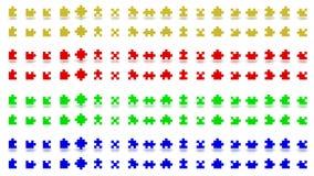 Pedazos multicolores del rompecabezas Fotografía de archivo