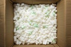 Pedazos que embalan del poliestireno Fotografía de archivo libre de regalías