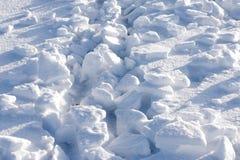 Pedazos quebrados de nieve Fotografía de archivo libre de regalías