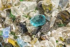Pedazos quebrados de vidrio Imagen de archivo