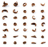 Pedazos rallados del chocolate Imagen de archivo