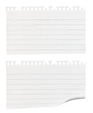 Pedazos rasgados de papel de nota Fotografía de archivo