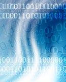 pedazos y bytes en un azul fotografía de archivo libre de regalías