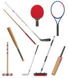 Pedazos y palillo al ejemplo del vector de los deportes Imagenes de archivo