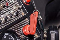 Peddel op de raceautopanelen Royalty-vrije Stock Afbeeldingen