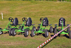 Peddle go carts Stock Photography