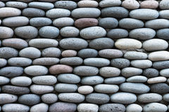 Peddle stone wall Stock Image