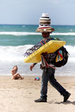 Peddler at the beach royalty free stock photography