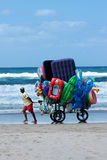 Peddler at the beach Stock Photos