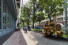 Peddling wares on street of Hanoi Vietnam Royalty Free Stock Photo