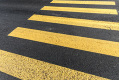 Pederastian crossing in asphalt street and abstract background Stock Image