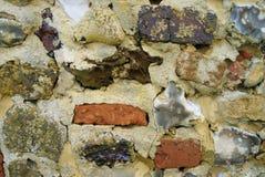 Pedernal y pared de ladrillo texturizados fotos de archivo libres de regalías