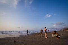 Pedernales海滩美丽的景色在马纳比 免版税库存图片