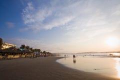 Pedernales海滩美丽的景色在马纳比 图库摄影