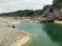 Pedernales понижается парк штата и река стоковое изображение