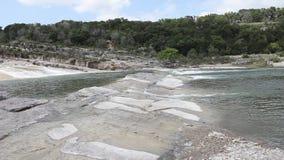 Pedernales Falls in Johnson City Texas. stock footage