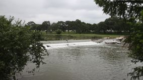 Pedernales River in Stonewall Texas. stock footage