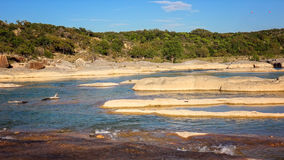 Pedernales River in Texas at Pedernales Falls State Park Stock Photos