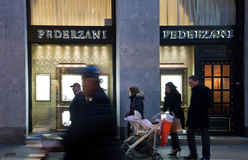 Pederzani shop Stock Photography