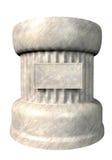 Pedestal. On white. 3d render illustration Stock Photography