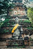 Pedestal of ancient Buddha sculpture in Ayutthaya Royalty Free Stock Photos