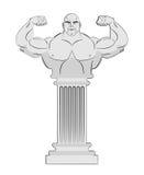 Pedestal con el cuerpo del atleta Columna griega con un hombre fuerte V Foto de archivo libre de regalías