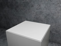 Pedestal with concrete background Stock Photography