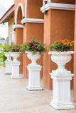 Pedestal flower stand royalty free stock photo