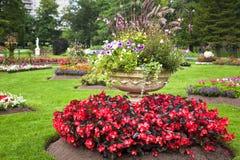 Pedestal Garden Planters Stock Image