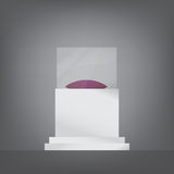Pedestal with glass and cushion Royalty Free Stock Photography