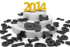 2014 on pedestal Stock Photography