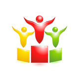 Pedestal icon. Concept vector people Stock Photo