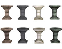 Pedestal, isolated on the white background Royalty Free Stock Photography