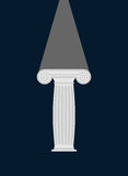 Pedestal. Light in darkness. Enlightenment. Vector illustration. Royalty Free Stock Images