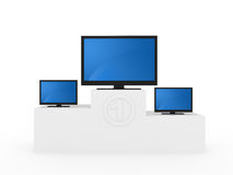 Pedestal with monitors Royalty Free Stock Photo