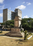 Pedestal of the monument to Tomas Estrada Palma in Havana. Cuba Stock Photo