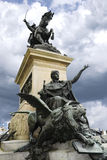 The pedestal of the monument to Victor Emmanuel II in Venice Royalty Free Stock Images