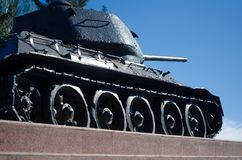 Pedestal tank of the second world war royalty free stock photo