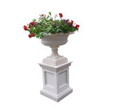 Pedestal with urn and plants Royalty Free Stock Photography
