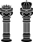 Pedestals of crowns Royalty Free Stock Images
