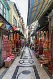Pedesterian shopping street in macau macao china Royalty Free Stock Image